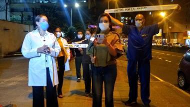 Médicos protestan en Bogotá por el caso del doctor Buelvas