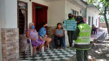 Policía realiza campaña contra la violencia intrafamiliar en el Atlántico
