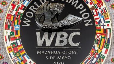 Así es el cinturón que será entregado a héroes mexicanos.