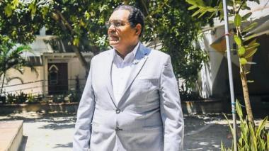 Rodolfo Pérez Vásquez durante una visita reciente a la Universidad Autónoma del Caribe.