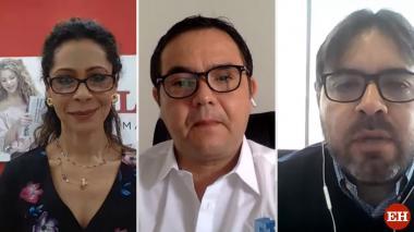 Erika Fontalvo, Héctor Carbonell y Alejandro Lucio.