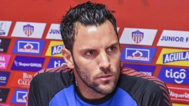 Sebastián Viera, arquero y capitán del Junior.