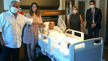 Fernando Muslera es operado con éxito tras su grave lesión de tibia y peroné