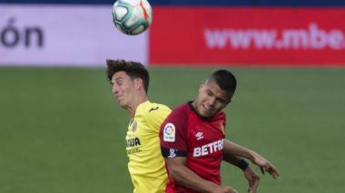 Juan Camilo 'Cucho' Hernández en el partido contra el Villarreal.