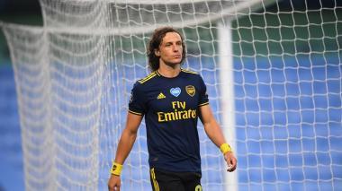 David Luiz luego de ser expulsado en el partido ante el Manchester City.
