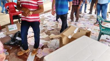 Aspecto de la jornada electoral del pasado 27 de octubre en San Zenón, Magdalena.