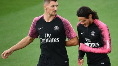 Cavani y Meunier no jugarán la Liga de Campeones con el PSG