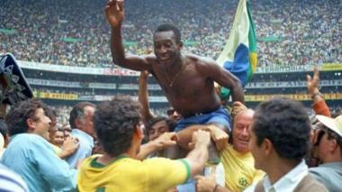 Pelé, máxima figura del Brasil en el Mundial de 1970.