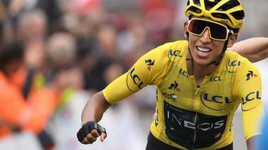 Egan Bernal cuando ganó el Tour de Francia en 2019.