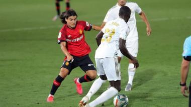 Luka Romero entró a los 83 minutos de juego con muchas ganas y chispa.