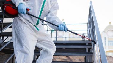 Las IES preparan las instalaciones físicas con las demarcaciones que exigen los protocolos de bioseguridad.
