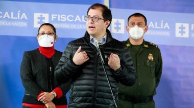 Francisco Barbosa, fiscal General de la Nación, durante una rueda de prensa.