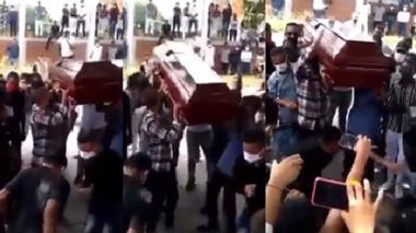 En video    En Cesar violan cuarentena con sepelio a ritmo de champeta