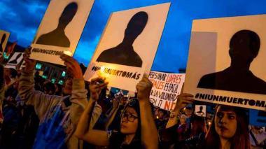 Manifestación contra el asesinato de líderes sociales.