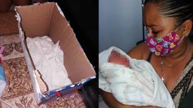 Dejan abandonado a bebé en una caja de cartón en Aguachica