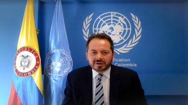 Carlos Ruiz Massieu, jefe de la Misión de Verificación de la ONU.