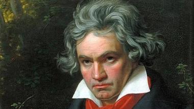 Retrato del músico alemán Ludwig van Beethoven.