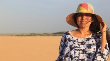 Qwenty López, emprendedora wayuu, se refirió a la dificultad  para acceder a servicios básicos y alertó sobre el aumento de la violencia en las comunidades.