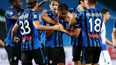 El colombiano Luis Fernando Muriel no celebró el gol ante su ex equipo, la Sampdoria.