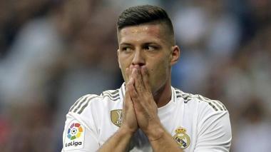 Jovic, delantero del Real Madrid.