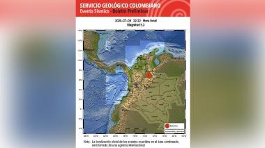 Temblor de 5.5 sacudió el centro del país