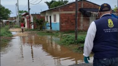 Fernando Abello, director de la Oficina Asesora para la Gestión del Riesgo de Desastres de Cartagena, acudió a Punta Canoa.