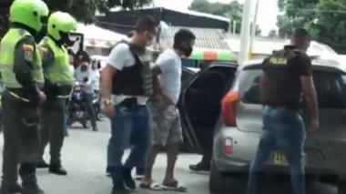 Momento de la captura de alias Ruso el pasado 9 de julio.