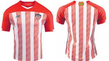 La nueva camiseta de Junior. La estrenará en el reinicio de la Liga.