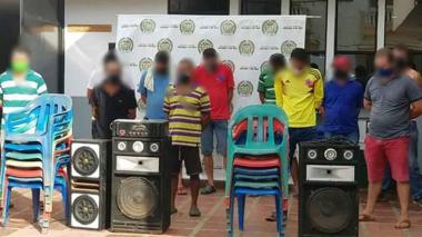 Capturan a 14 personas mientras jugaban billar en Lorica