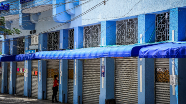 Cierre de comercios en el centro de Barranquilla.