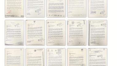Estas son 15 de las 16 cartas que se han enviado quitándole el apoyo a Vélez y pidiendo su renuncia.