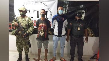 Los dos capturados por el homicidio en Sabanalarga.