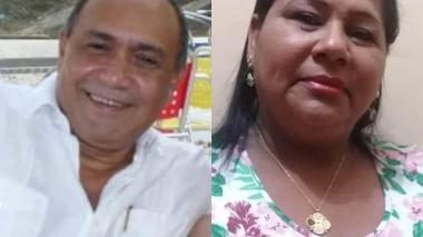 El médico Elías Hani y la enfermera Nereida Rolong, fallecidos.
