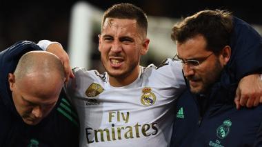 Las lesiones no han respetado al belga Eden Hazard esta temporada con el Real Madrid.