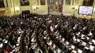 Aspecto de una plenaria del Congreso de la República en el Capitolio antes de la pandemia.