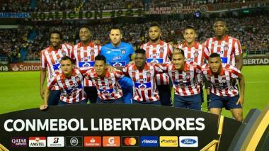 Onceno titular de Junior que enfrentó al Flamengo, en Barranquilla, en la primera fecha del Grupo A de la Copa Libertadores 2020.