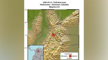 Otro fuerte sismo se registró en Santander