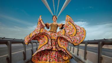 Milena Vidal Donado, reina del Carnaval de Soledad, bailará por el Atlántico.