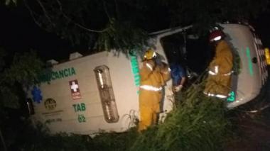 Dos heridos por accidente de ambulancia en Córdoba
