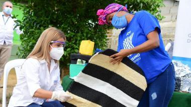 Artesanas en Luruaco reciben dotación reciclable para sus productos
