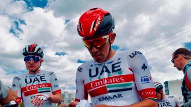 Juan Sebastián Molano, ciclista colombiano del Emiratos Árabes Unidos (UAE Team).