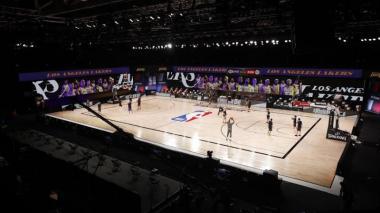 Dos juegos se disputaron en la primera jornada de la reanudación de la NBA.