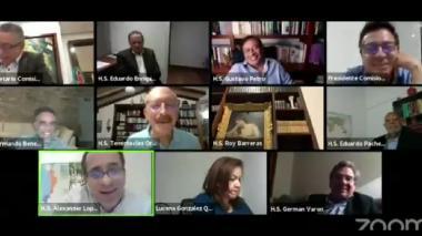 Sesión virtual de la Comisión Primera del Senado.