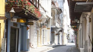Una calle del centro histórico de Cartagena donde funcionaban joyerías y restaurantes.