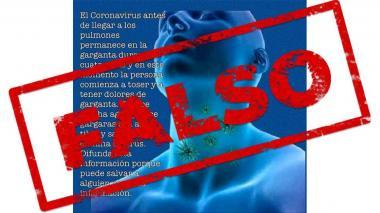 Fotos de amígdalas que circulan por Facebook no son de pacientes con COVID