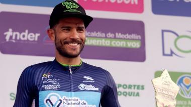 El ciclista colombiano Carlos Quintero.