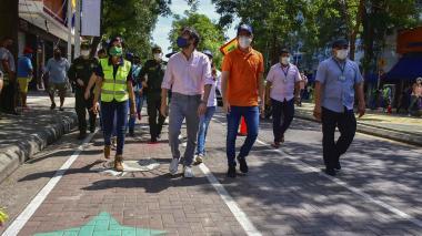 Carriles en el Centro garantizan paso de peatones y ciclistas