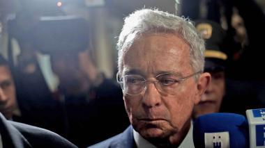 Álvaro Uribe, expresidente y senador, el día que  fue citado a la Corte Suprema.