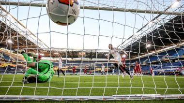 Youssef En-Nesyri anotó el 2-0 del Sevilla frente a la AS Roma.