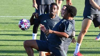 El colombiano Juan Guillermo Cuadrado en la práctica de Juventus el jueves pasado.